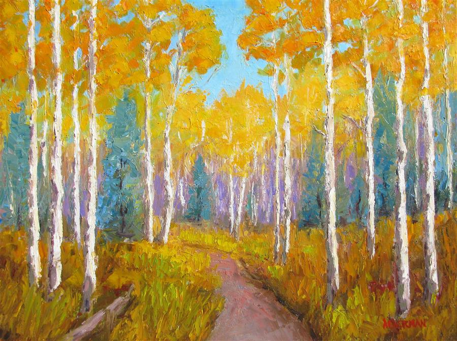 Original art for sale at UGallery.com | Fall Spectacular by ROGER ALDERMAN | $1,675 | Oil painting | 18' h x 24' w | http://www.ugallery.com/oil-painting-fall-spectacular