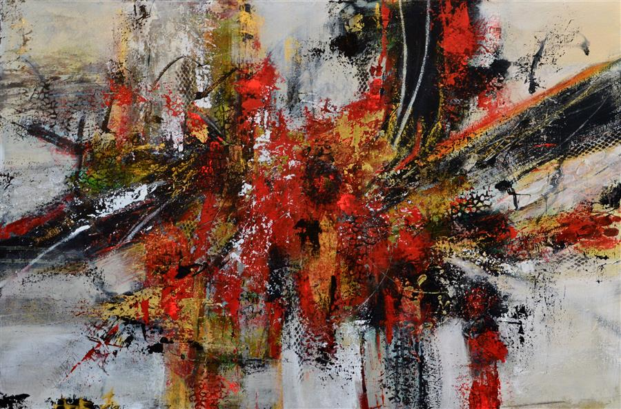 Discover Original Art by DL Watson | Red Passion acrylic painting | Art for Sale Online at UGallery