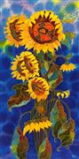 Fantasy art,Nature art,Flora art,Representational art,mixed media artwork,Jolly Flowers