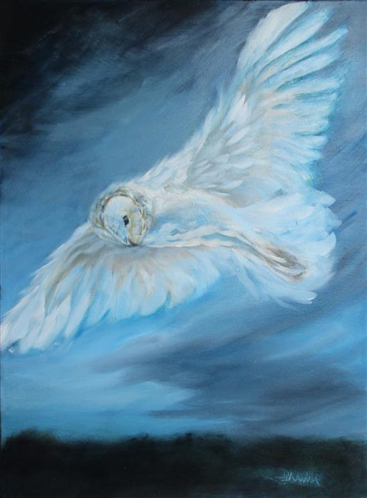Discover Original Art by Pandalana Williams | Night Angels oil painting | Art for Sale Online at UGallery
