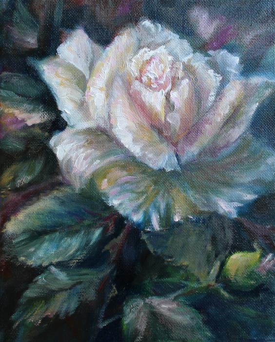 Discover Original Art by Pandalana Williams | Summer Rose oil painting | Art for Sale Online at UGallery