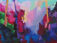 Abstract art,Expressionism art,Landscape art,Non-representational art,oil painting,Crepe Myrtle