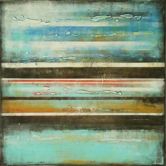 Discover Original Art by Ronald Hunter | Vertical Panels Multicolor acrylic painting | Art for Sale Online at UGallery