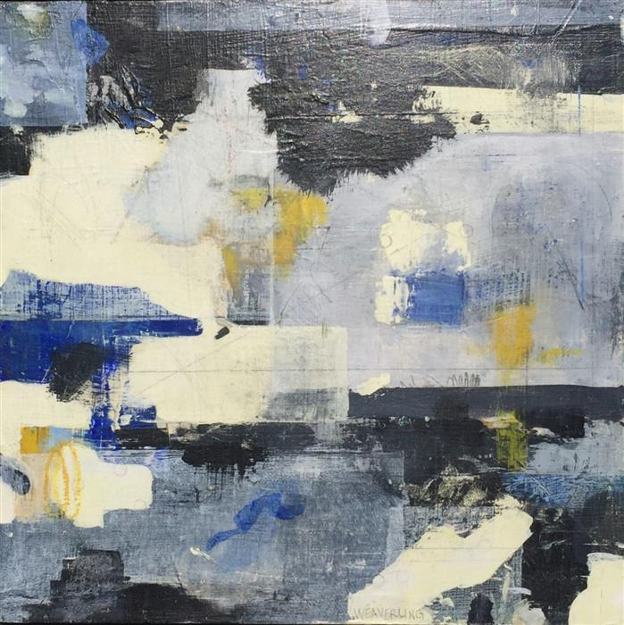 Original art for sale at UGallery.com | Coast Lines III by JULIE WEAVERLING | $500 | Mixed media artwork | 12' h x 12' w | http://www.ugallery.com/mixed-media-artwork-coast-lines-iii