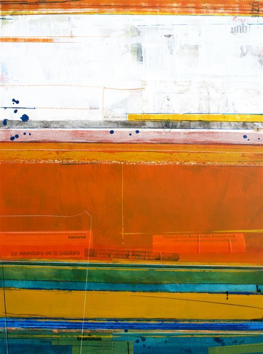 "Original art for sale at UGallery.com | La Aventura de la Palabra by JUAN GABRIEL PERÉZ BOTERO ""JUGA"" | $775 | Mixed media artwork | 31.4' h x 23.6' w | http://www.ugallery.com/mixed-media-artwork-la-aventura-de-la-palabra"