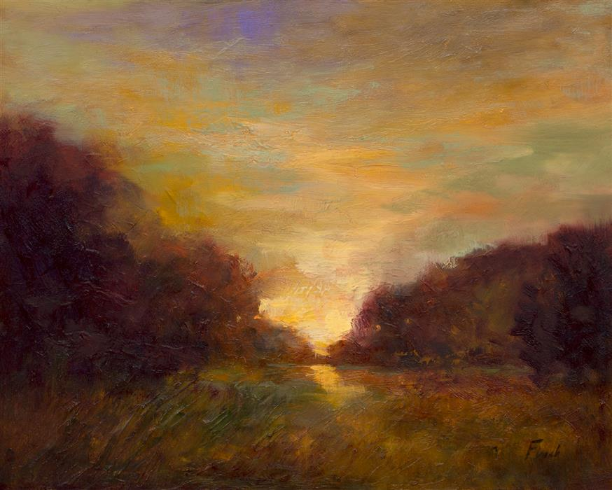 Original art for sale at UGallery.com | The Glowing by SHEILA FINCH | $650 | Oil painting | 8' h x 10' w | http://www.ugallery.com/oil-painting-the-glowing