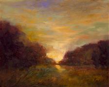 Impressionism art,Landscape art,Classical art,Representational art,oil painting,The Glowing