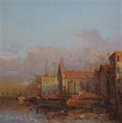 Architecture art,Impressionism art,Travel art,Classical art,Representational art,oil painting,Santa Maria Venice