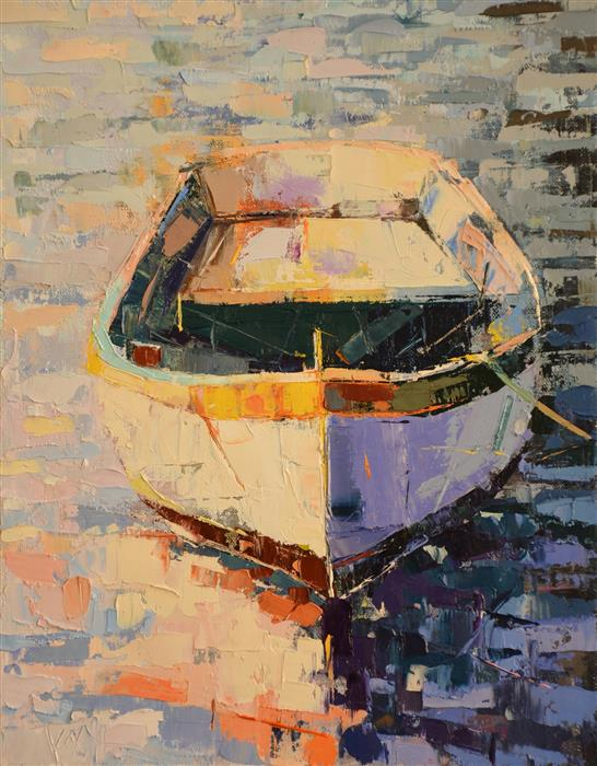 Original art for sale at UGallery.com | Boat/33 by KIM MCANINCH | $450 | Oil painting | 14' h x 11' w | http://www.ugallery.com/oil-painting-boat-33