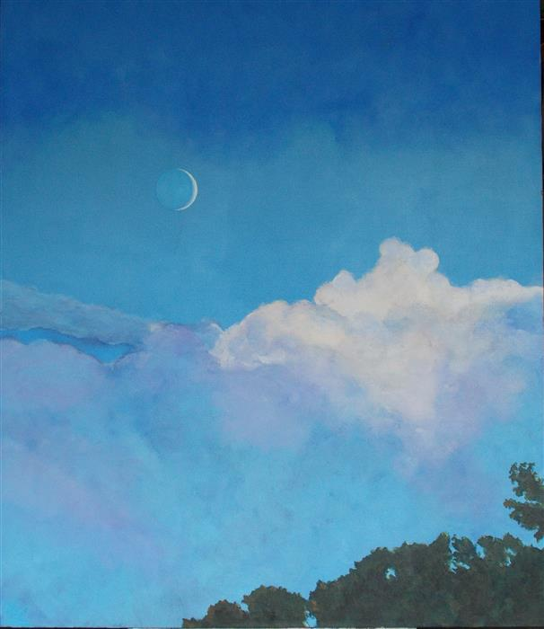 Original art for sale at UGallery.com | Lovely Luna by BENJAMIN  THOMAS | $2,000 | Acrylic painting | 48' h x 40' w | http://www.ugallery.com/acrylic-painting-lovely-luna