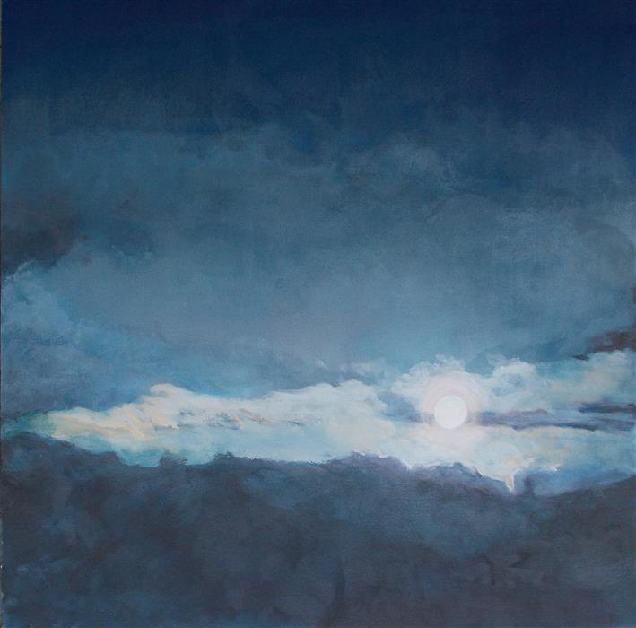 Original art for sale at UGallery.com | Spring Moon by BENJAMIN  THOMAS | $1,475 | Acrylic painting | 34' h x 34' w | http://www.ugallery.com/acrylic-painting-spring-moon