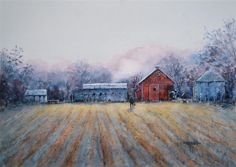 Original art for sale at UGallery.com | A New Dawn by JUDY MUDD | $550 | Watercolor painting | 11' h x 15' w | http://www.ugallery.com/watercolor-painting-a-new-dawn
