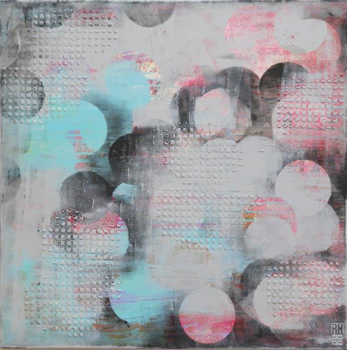 Discover Original Art by Ronald Hunter | Circles & Bubbles acrylic painting | Art for Sale Online at UGallery