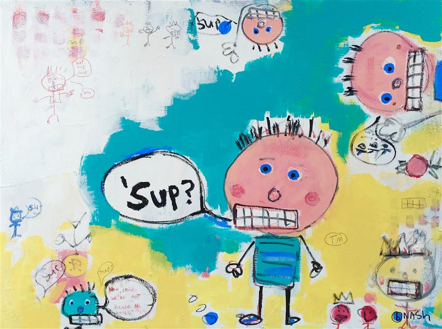 Discover Original Art by Brian Nash | Sup? acrylic painting | Art for Sale Online at UGallery