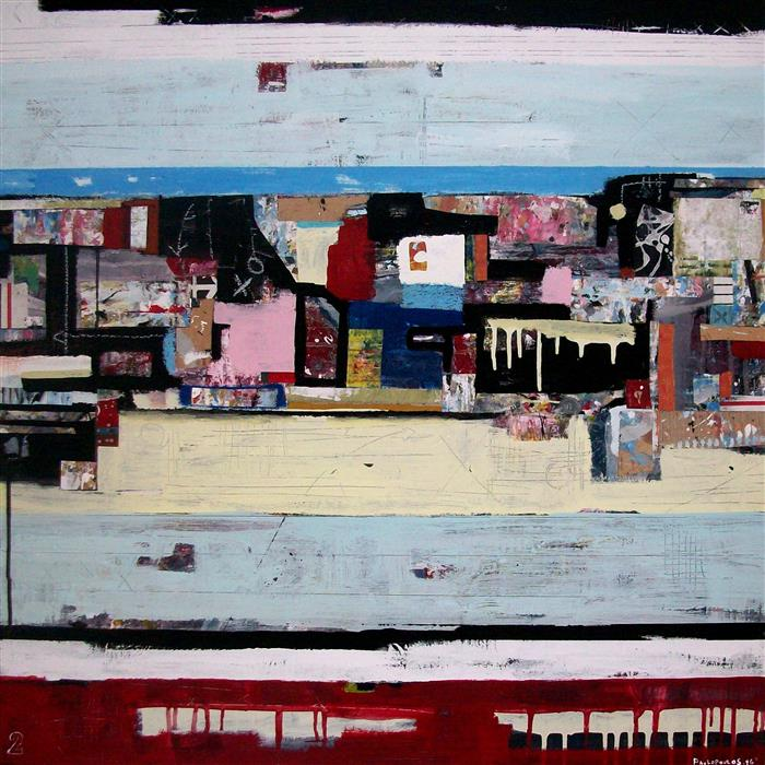 Original art for sale at UGallery.com | Passed Quickly by DIMITRIS PAVLOPOULOS | $2,700 | Mixed media artwork | 31.49' h x 31.49' w | http://www.ugallery.com/mixed-media-artwork-passed-quickly