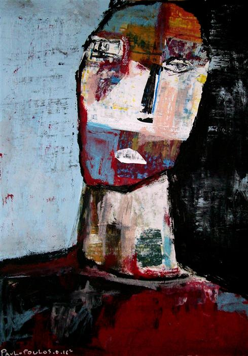 Original art for sale at UGallery.com | What Is Right? by DIMITRIS PAVLOPOULOS | $600 | Mixed media artwork | 15' h x 11' w | http://www.ugallery.com/mixed-media-artwork-what-is-right