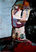 Expressionism art,People art,Representational art,mixed media artwork,What Is Right?