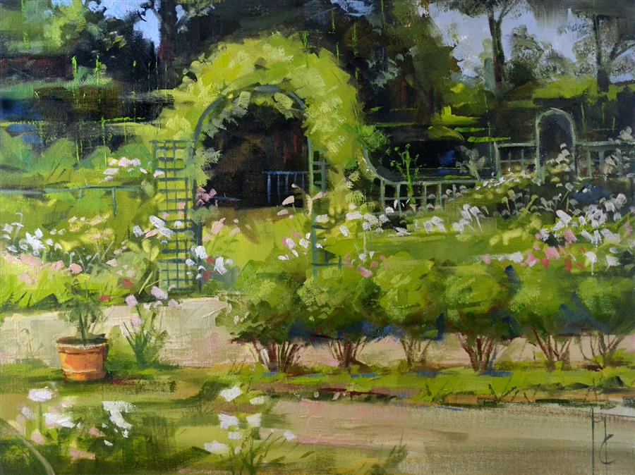 Discover Original Art by Garry Colby | In the Garden oil painting | Art for Sale Online at UGallery