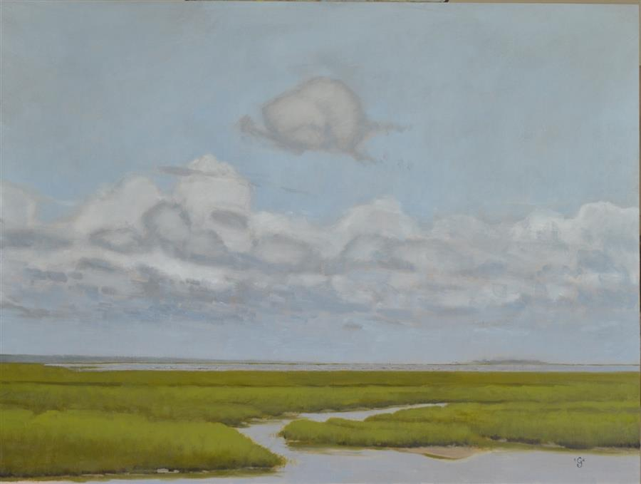 Original art for sale at UGallery.com | Sunny Day in the Lowcountry by CHRISTOPHER GARVEY | $875 | Oil painting | 18' h x 24' w | http://www.ugallery.com/oil-painting-sunny-day-in-the-lowcountry