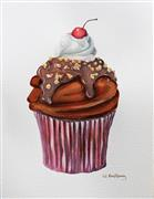 Pop art,Cuisine art,Representational art,watercolor painting,A Cherry on Top