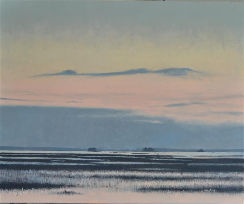 Original art for sale at UGallery.com | Lowcountry Sunrise by CHRISTOPHER GARVEY | $1,300 | Oil painting | 23' h x 28' w | http://www.ugallery.com/oil-painting-lowcountry-sunrise