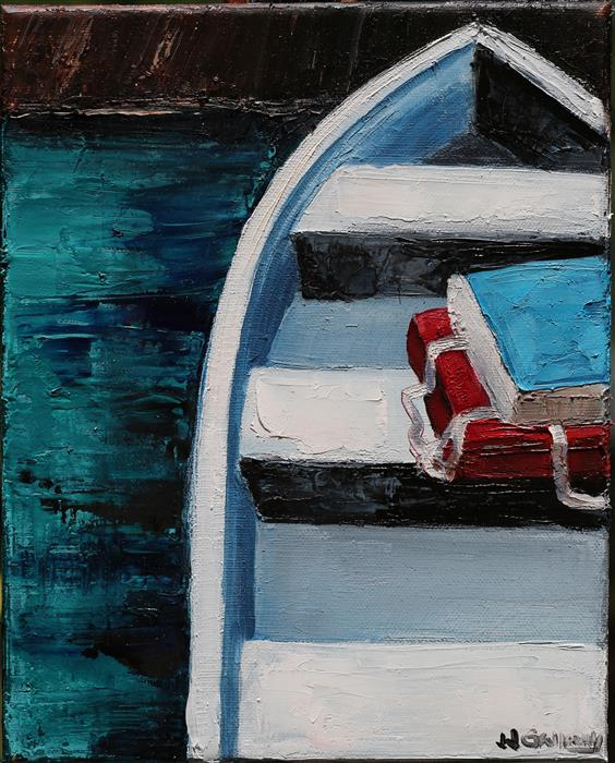Original art for sale at UGallery.com | Boat Cushions by JJ GALLOWAY | $550 | Oil painting | 10' h x 8' w | http://www.ugallery.com/oil-painting-boat-cushions