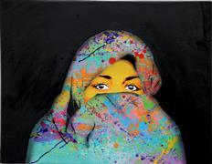 People art,Pop art,Representational art,mixed media artwork,Cover Up Colors