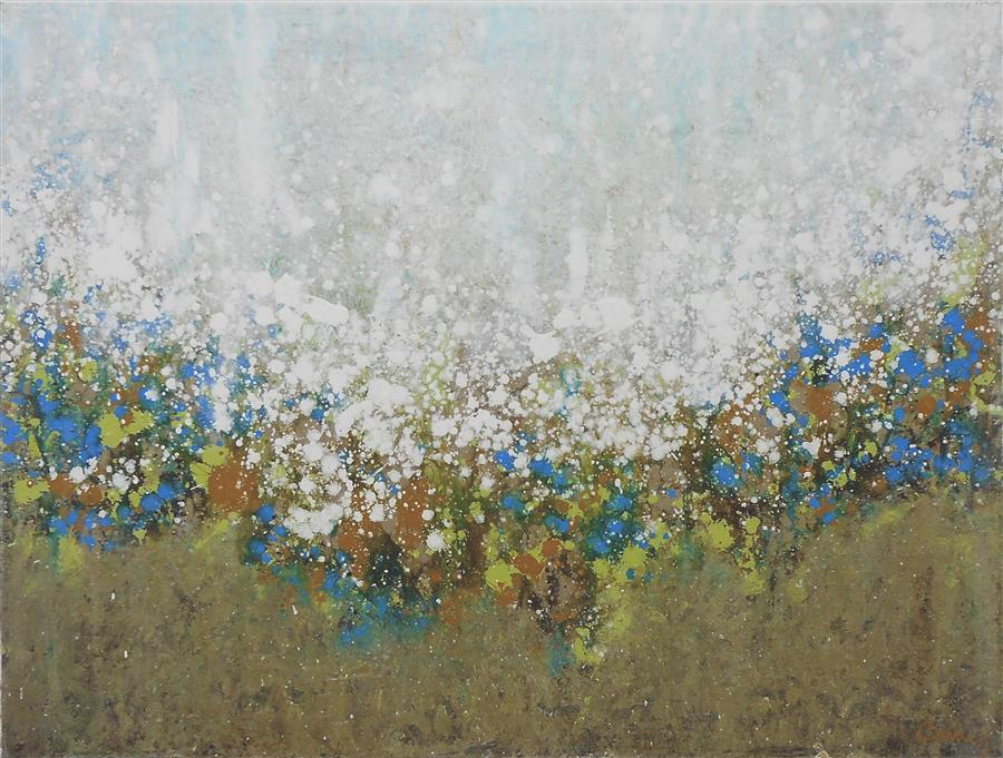 Original art for sale at UGallery.com | Frosted Morning by LISA CARNEY | $675 | Acrylic painting | 18' h x 24' w | http://www.ugallery.com/acrylic-painting-frosted-morning