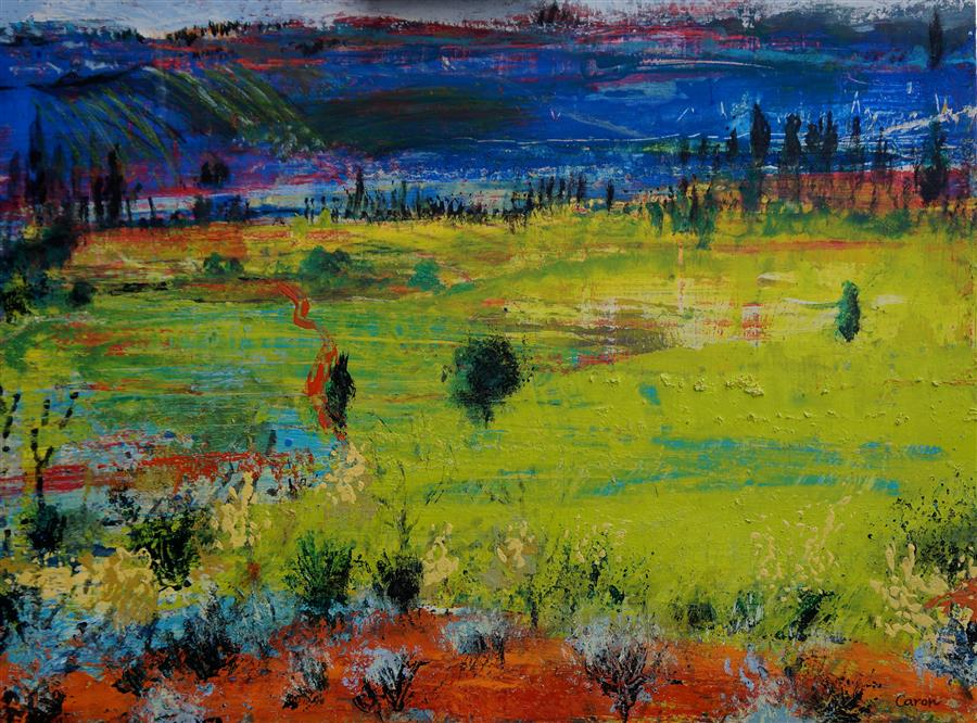 Discover Original Art by Sidonie Caron   A Summer's Day acrylic painting   Art for Sale Online at UGallery