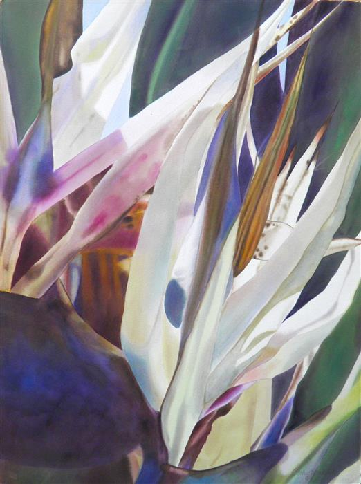 Original art for sale at UGallery.com | Bird of Paradise 2 by CATHE HENDRICK | $700 | Watercolor painting | 30' h x 22' w | http://www.ugallery.com/watercolor-painting-bird-of-paradise-2
