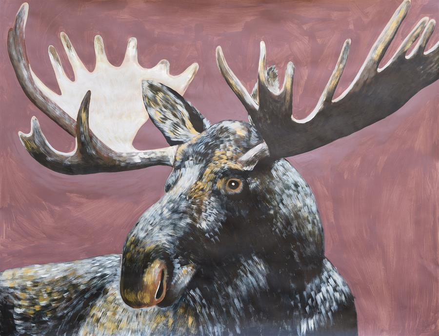 Discover Original Art by Natalie Wright | Moose acrylic painting | Art for Sale Online at UGallery