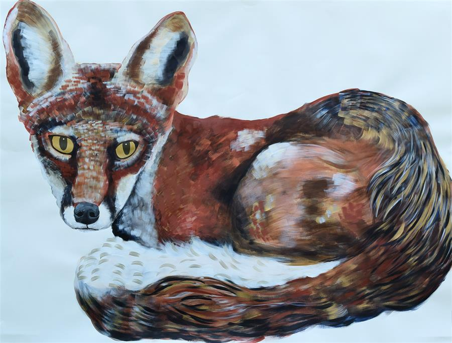 Discover Original Art by Natalie Wright | Fox acrylic painting | Art for Sale Online at UGallery