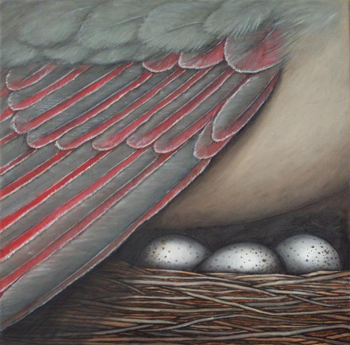 Original art for sale at UGallery.com | Waiting in the Wings by JENNIFER ROSS | $1,000 | Oil painting | 20' h x 20' w | http://www.ugallery.com/oil-painting-waiting-in-the-wings