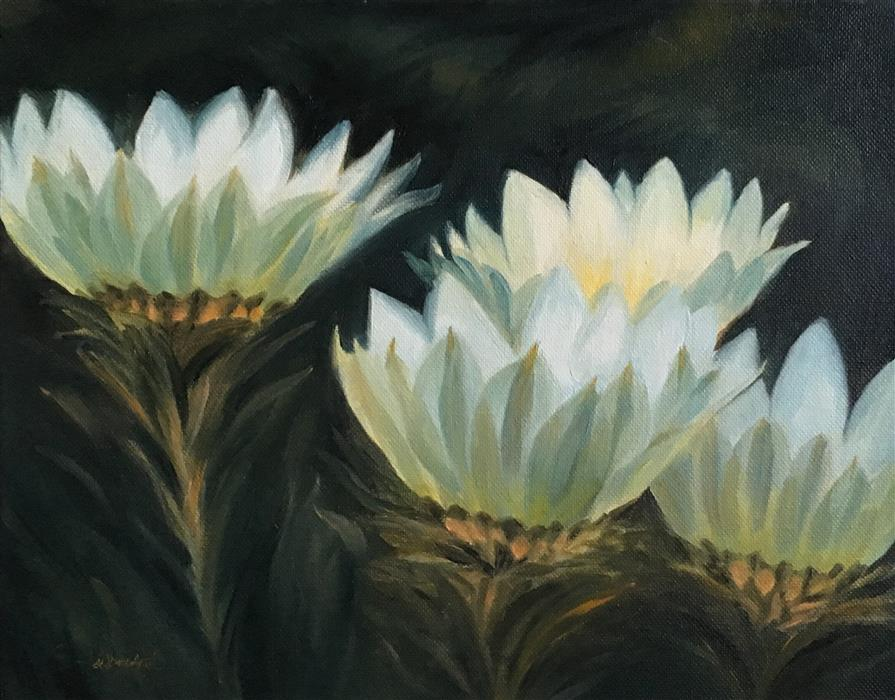 Discover Original Art by Pandalana Williams | Wildflowers in the Morning oil painting | Art for Sale Online at UGallery