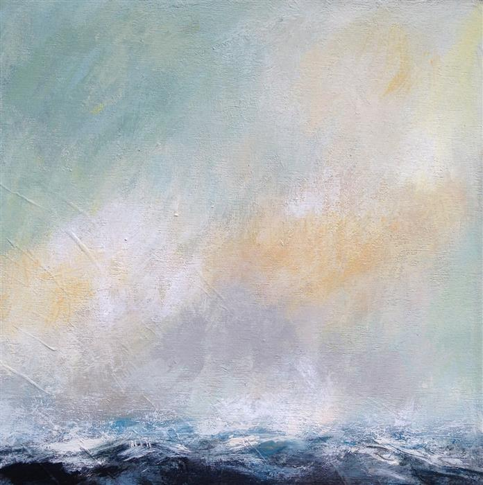 Discover Original Art by Suzanne Nicoll | Rough Sea mixed media artwork | Art for Sale Online at UGallery