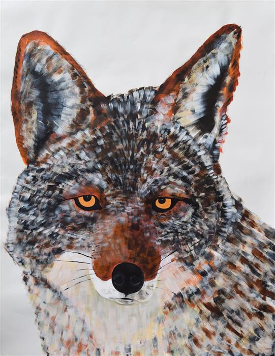 Discover Original Art by Natalie Wright | Coyote acrylic painting | Art for Sale Online at UGallery
