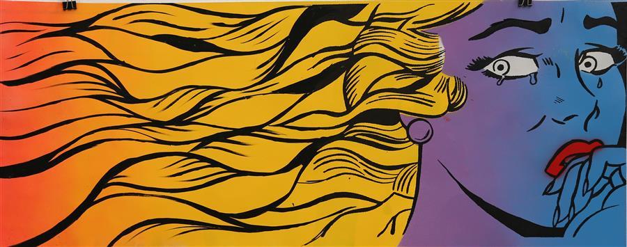 Original art for sale at UGallery.com | Wind Blows by KEYVAN SHOVIR | $425 | Mixed media artwork | 11' h x 28' w | http://www.ugallery.com/mixed-media-artwork-wind-blows