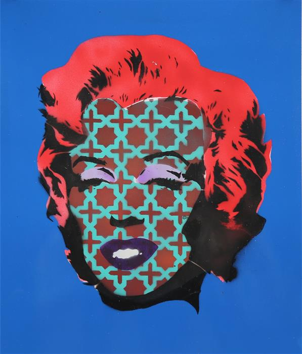 Original art for sale at UGallery.com | Marilyn Monroe by KEYVAN SHOVIR | $425 | Mixed media artwork | 15.5' h x 13' w | http://www.ugallery.com/mixed-media-artwork-marilyn-monroe