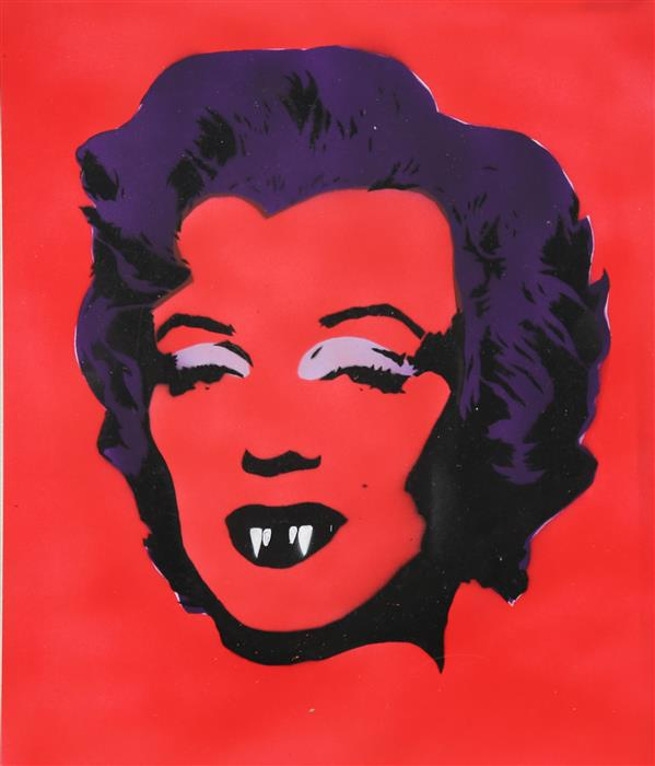 Original art for sale at UGallery.com | Vampire Marilyn by KEYVAN SHOVIR | $375 | Other media | 15' h x 12.2' w | http://www.ugallery.com/other-media-vampire-marilyn