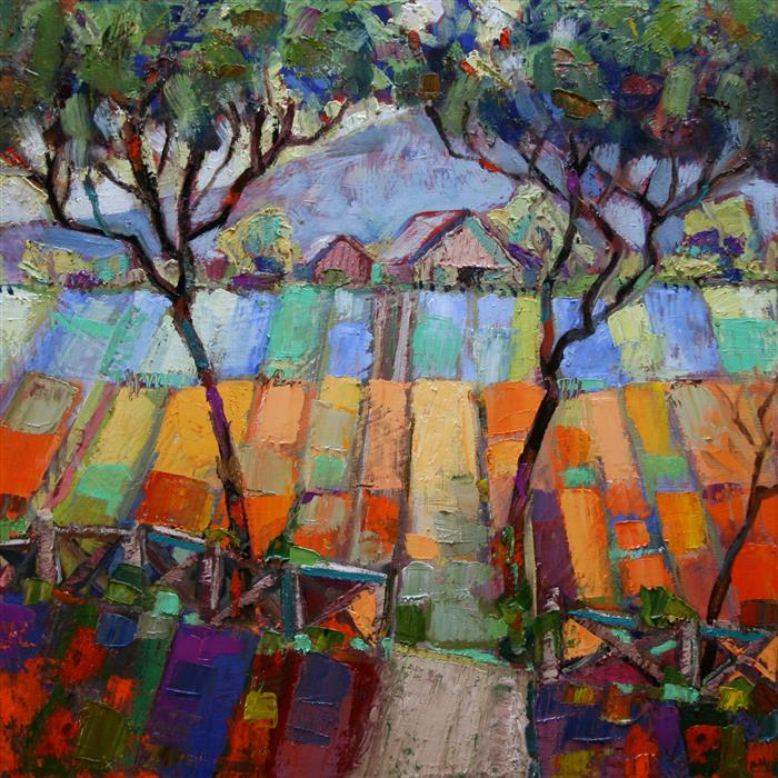 Original art for sale at UGallery.com | Flower Farm by JAMES HARTMAN | $675 | Oil painting | 20' h x 20' w | http://www.ugallery.com/oil-painting-flower-farm