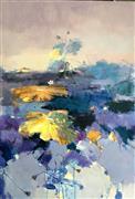 Impressionism art,Nature art,Flora art,Representational art,oil painting,Waterlily 19