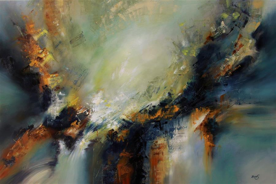 Original art for sale at UGallery.com | Life Force by SANDRA ZEKK | $2,975 | Oil painting | 32' h x 48' w | http://www.ugallery.com/oil-painting-life-force