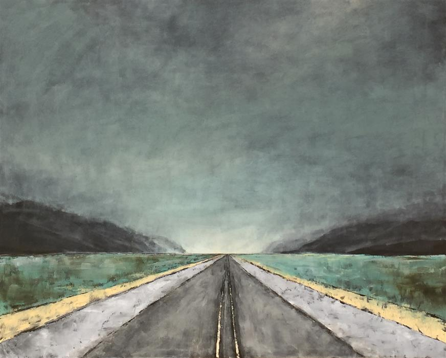 Original art for sale at UGallery.com | Vanishing Point VII by MANDY MAIN | $3,700 | Oil painting | 48' h x 60' w | http://www.ugallery.com/oil-painting-vanishing-point-vii