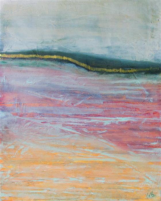 Original art for sale at UGallery.com | Fifth Wave by VALERIE BERKELY | $250 | Oil painting | 14' h x 11' w | http://www.ugallery.com/oil-painting-fifth-wave