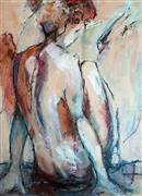 Expressionism art,Nudes art,Representational art,acrylic painting,On the Edge