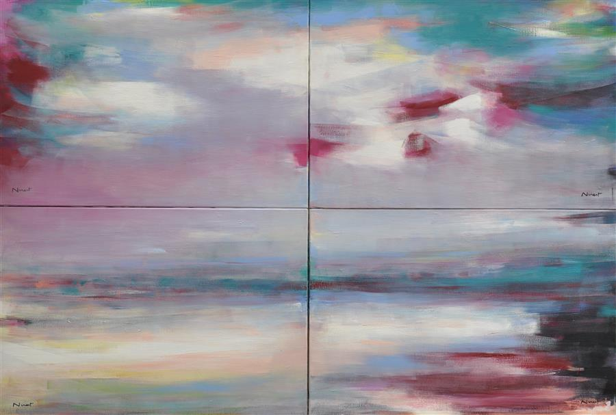 Original art for sale at UGallery.com | Heavenly Race by CLÉMENT NIVERT | $5,825 | Oil painting | 39' h x 57' w | http://www.ugallery.com/oil-painting-heavenly-race