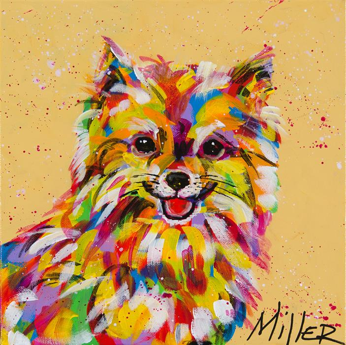 Original art for sale at UGallery.com | Pom Pom by TRACY MILLER | $350 | Acrylic painting | 12' h x 12' w | http://www.ugallery.com/acrylic-painting-pom-pom