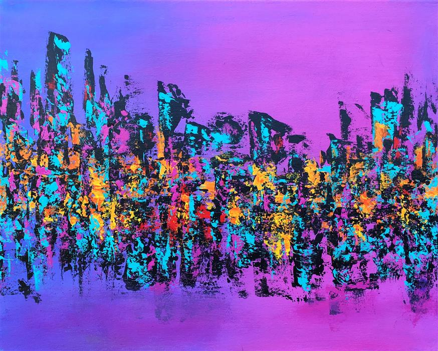 Original art for sale at UGallery.com | Uptown by ROBIN JORGENSEN | $525 | Acrylic painting | 16' h x 20' w | http://www.ugallery.com/acrylic-painting-uptown