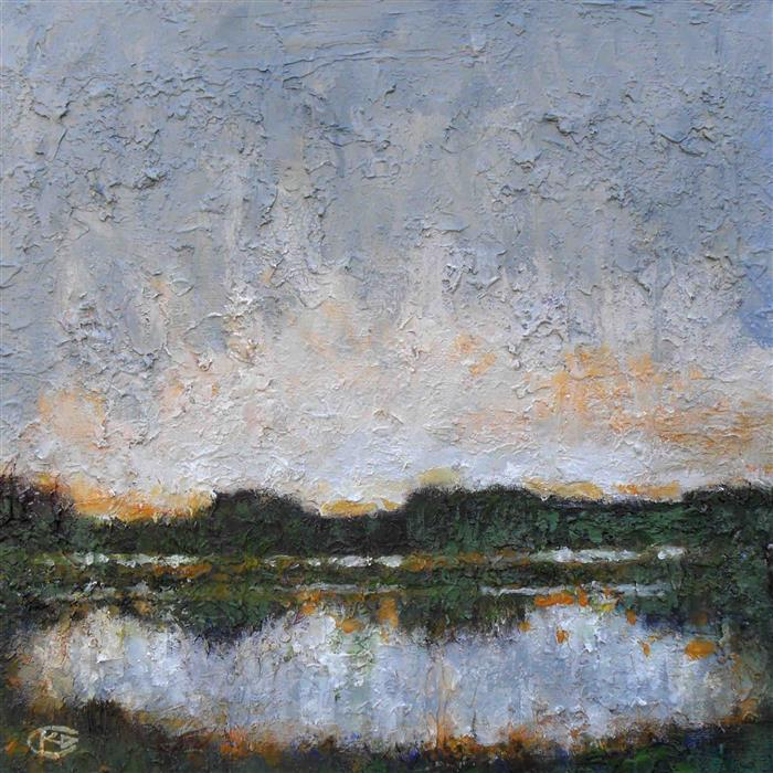 Original art for sale at UGallery.com | Lake Morning by KIP DECKER | $1,100 | Acrylic painting | 24' h x 24' w | http://www.ugallery.com/acrylic-painting-lake-morning