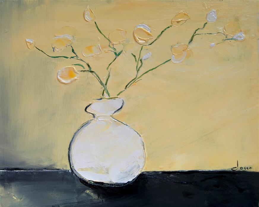 Original art for sale at UGallery.com | White Vase by ANNE DOSSO-POWELL | $575 | Oil painting | 16' h x 20' w | http://www.ugallery.com/oil-painting-white-vase